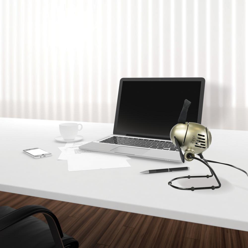 Wentylator biurkowy Vornado Zippi srebrny design